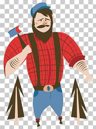 Paul Bunyan And Babe The Blue Ox Tall Tale PNG