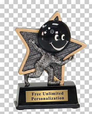 Trophy Award Ten-pin Bowling Commemorative Plaque PNG
