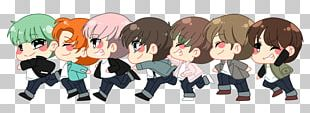 RUN BTS Chibi K-pop Fan Art PNG