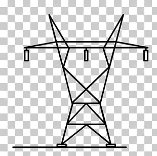 Transmission Tower Drawing Electricity Coloring Book Electric Power Transmission PNG