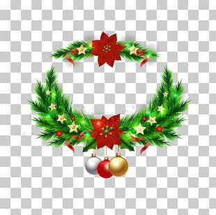 Christmas Tree Wreath Christmas Ornament PNG
