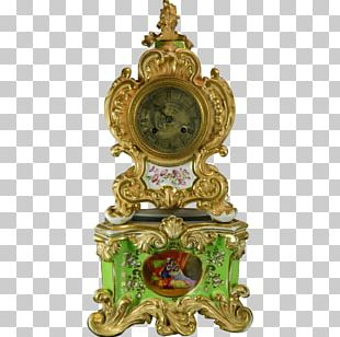 French Empire Mantel Clock Antique Fireplace Mantel PNG