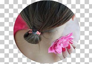 Hair Tie Eyelash Pink M RTV Pink PNG