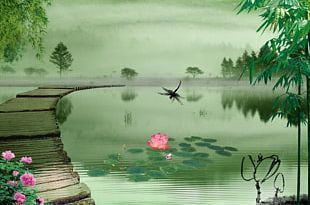 Fukei Chinese Painting PNG