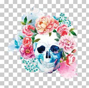 T-shirt Skull Calavera Flower Human Skeleton PNG