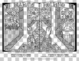 Stations Of The Cross Child Christian Cross Coloring Book PNG