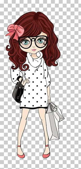 Drawing Girl Illustration PNG