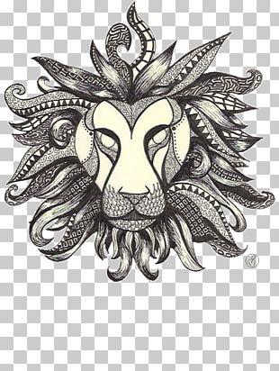 Lion Drawing Ballpoint Pen Artwork PNG
