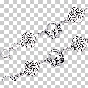Bracelet Silver Claddagh Ring Jewellery Chain PNG