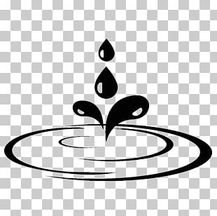 Water Puddle Drawing Sticker Black And White PNG