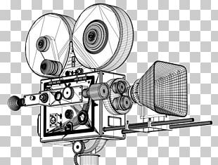 Movie Camera Photographic Film Drawing PNG