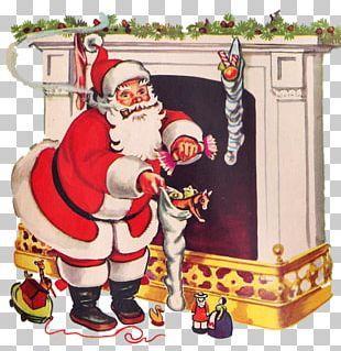 Santa Claus Christmas Ornament Christmas Stockings Christmas Card PNG