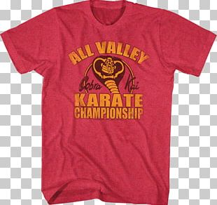T-shirt Strike First The Karate Kid Clothing PNG