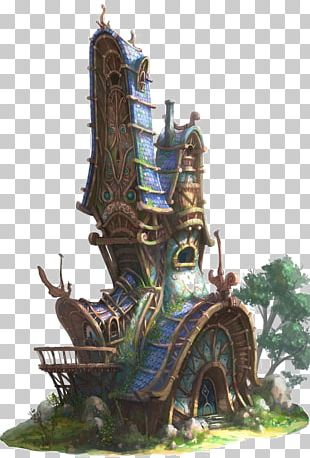 Fairy Fantasy Elf Concept Art House PNG