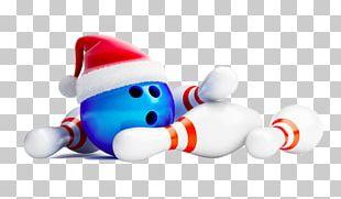 Santa Claus Ten-pin Bowling Holiday PNG