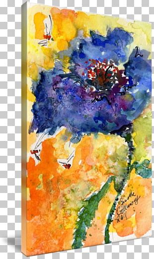 Watercolor Painting Floral Design Modern Art PNG