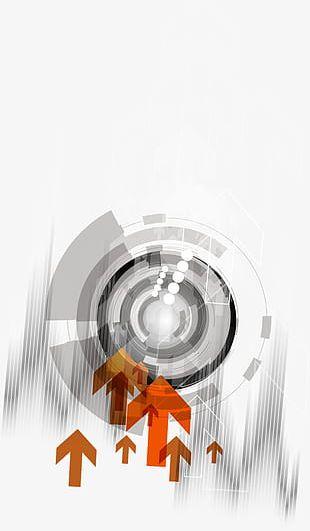 Gray Sci-fi Circle Decorative Pattern PNG