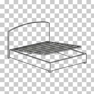 Bed Frame Mattress Line Angle PNG