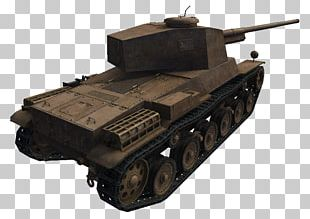Churchill Tank Self-propelled Artillery Gun Turret Armored Car PNG