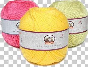 Wool Yellow Yarn Red PNG