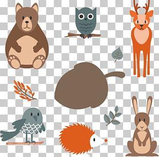 Hand-drawn Cartoon Animals PNG