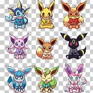 Eevee Pikachu Umbreon Espeon Flareon PNG