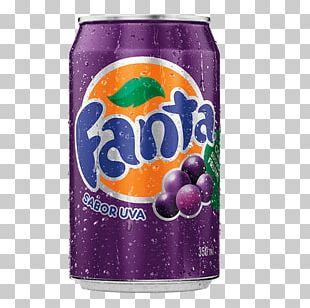 Fizzy Drinks Juice Fanta Carbonated Water Grape PNG