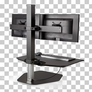 Standing Desk Computer Monitors Flat Display Mounting Interface PNG