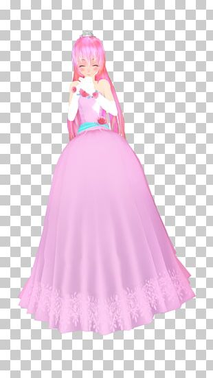 Costume Design Gown Pink M Barbie PNG