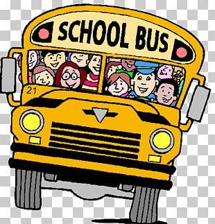 School Bus Transport Student PNG