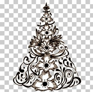 Christmas Tree Tattoo Png Clipart Angle Area Black Black And
