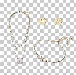 Earring Jewellery Necklace Gold Silver PNG