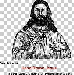 Jesus Praying Hands Drawing Cross PNG