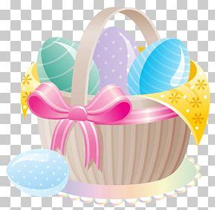 Easter Bunny Easter Egg Basket PNG