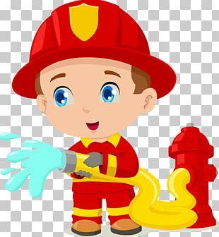 Firefighter Cartoon PNG