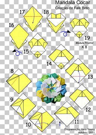 Paper Modular Origami Mandala Kusudama PNG