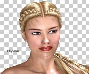 Blond Headpiece Long Hair Brown Hair PNG