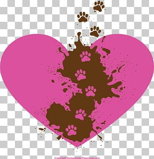 Paw Heart Cat Dog PNG