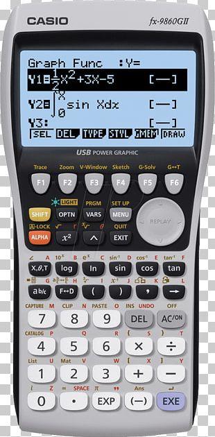 Casio 9860 Series Graphing Calculator Casio Graphic Calculators PNG