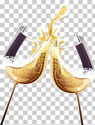 Champagne Wine Glass Alcoholic Drink PNG