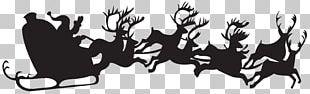 Santa Claus's Reindeer Christmas Silhouette PNG