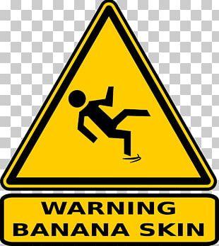 Banana Peel Warning Sign PNG