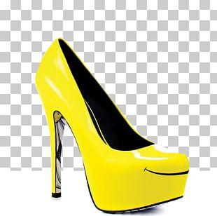 High-heeled Shoe Stiletto Heel Yellow Mule PNG