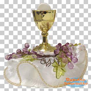 First Communion Eucharist Chalice Bomboniere Sacramental Bread PNG