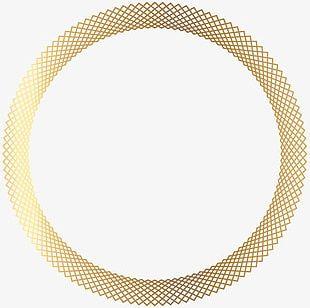 Golden Round Spiral French Border PNG