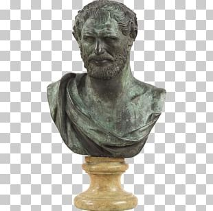 Bronze Sculpture Bust Antique PNG