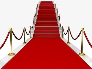 Red Carpet Ladder Stairs PNG