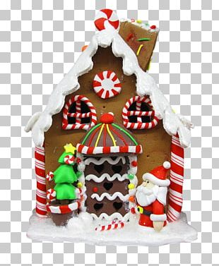 Gingerbread House Lebkuchen Royal Icing Christmas Ornament PNG