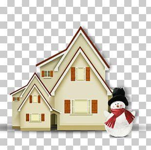 Christmas Decoration House Snowman PNG