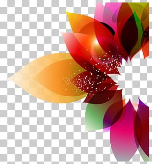 Color Flower Abstract Art Floral Design PNG